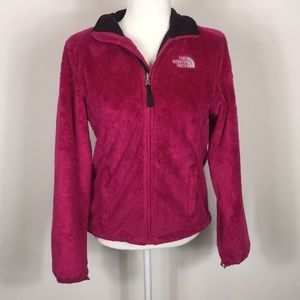 The North Face Pink Fuzzy Osito Zip Up Jacket
